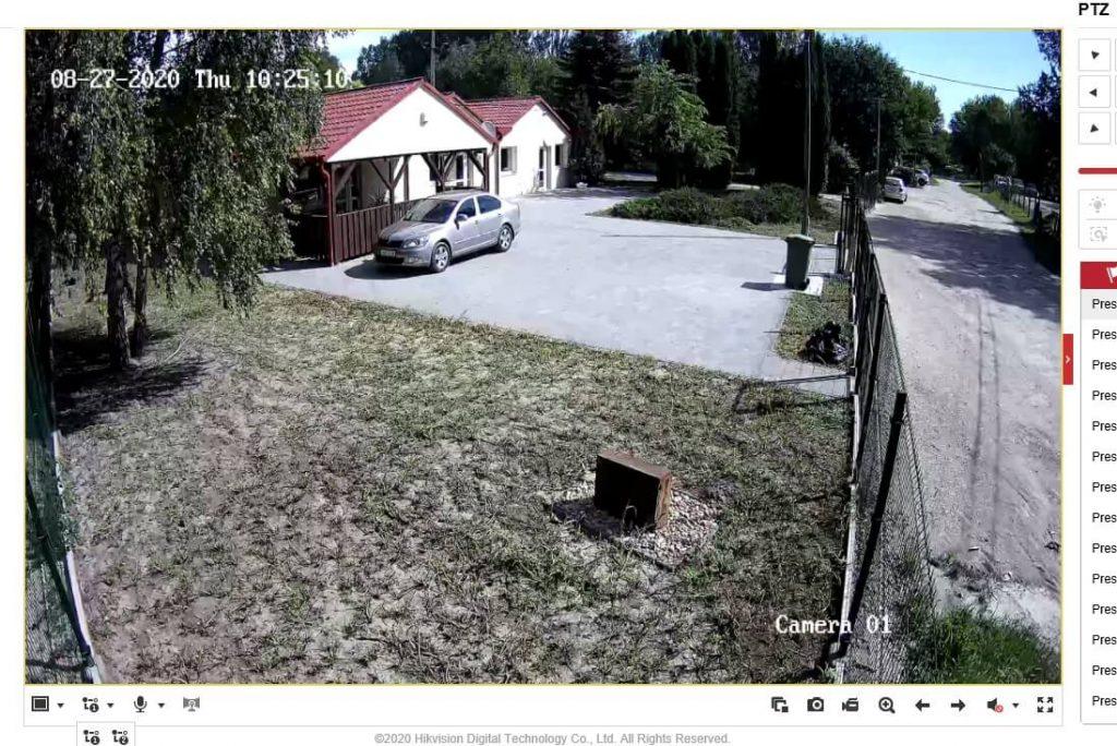 Vagyonvédelmi kamera működés közben