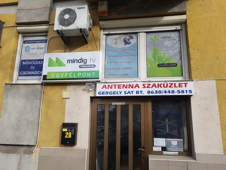 Antenna üzletünk Székesfehérváron